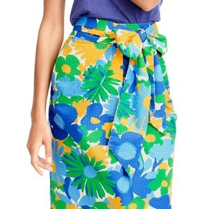 J. Crew Morning Floral Tie Waist Skirt (W14445)